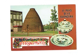 """Cpm - 57 - Sarreguemines - Pays Faïencerie - Faïence - Lettre Alphabet """"S"""" Décorée - - Sarreguemines"""