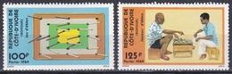 Elfenbeinküste Ivory Coast Cote D'Ivoire 1984 Spiele Games Eklan-Spiel Brettspiele Kinder Children, Mi. 824-5 ** - Côte D'Ivoire (1960-...)