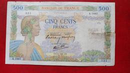 "500 Francs ""La Paix"" - 1941 - France - 1871-1952 Gedurende De XXste In Omloop"