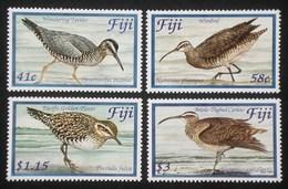 FIJI 2004 SEA SHORE BIRDS TATTLER WIMBREL PLOVER CURLEW SINGLE SET MNH - Fiji (1970-...)