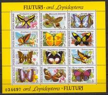 Rumänien; 1991; Michel Block 267 **, Butterflies /Schmetterlinge / Fluturi - 1948-.... Republics