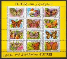 Rumänien; 1991; Michel Block 268 **, Butterflies /Schmetterlinge / Fluturi - 1948-.... Republics