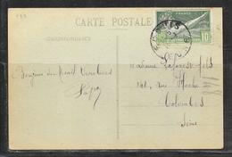 LOT 1901027 - N° 183 SUR CP ANIMEE DE LE MESNIL VERCLIVES POUR COLOMBES - Marcophilie (Lettres)