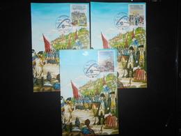 Saint Marin Fdc , 3 Cartes Philexfrance 89 Revolution - FDC