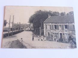 Combs La Ville Sortie De La Gare Hotel Du Chemin De Fer Restaurant Morin  Cpa 1909 - Combs La Ville