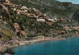 POSITANO-SALERNO-PANORAMA CON SPIAGGIA-CARTOLINA VERA FOTOGRAFIA VIAGGIATA - Salerno