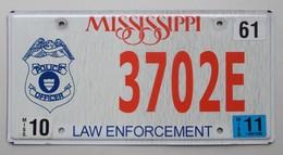 Plaque D'immatriculation - USA - Etat Du Mississippi - Police Officer - - Number Plates