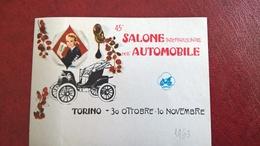 ERINNOFILI VIGNETTE CINDERELLA ETICHETTA - TORINO SALONE AUTOMOBILE 1963 - Erinnophilie