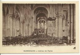 62 - BLENDECQUES / INTERIEUR DE L'EGLISE - Andere Gemeenten