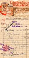 ##(DAN191)- 1923-Estratto Di Carne Dadi Per Brodo Arrigoni, Fattura Con Bella Intestazione Pubblicitaria,marca Da Bollo - Italië