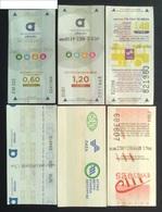 6  Tickets For Athens Public Transport - Titres De Transport