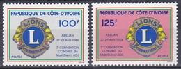 Elfenbeinküste Ivory Coast Cote D'Ivoire 1984 Organisationen Wohlfahrt Welfare Lions Club Distrikt 403, Mi. 817-8 ** - Côte D'Ivoire (1960-...)