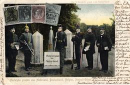 Thematiques Politique Militaire Hoogste Punt Van Nederland Hartelyke Groeten  Deutschland Belgien Neutral Gebiet - Satiriques