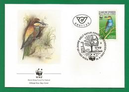 Österreich  1988  Mi.Nr. 1918 , Der Bienenfresser - WWF Official First Day Cover - 25 Jahre Welt Natur Fonds Österreich - FDC