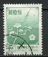 Chine - Formose - Taïwan 1979 Y&T N°1239 - Michel N°1293 (o) - 50d Fleurs De Prunier - 1945-... République De Chine