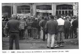 ALBI  Grève Des Mineurs De CARMAUX  ,au Conseil General (24 Dec 1986) RV 300EX Photo J C Souyri - Albi