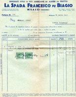 ##(DAN191)-Milazzo 1941-Fattura La Spada Francesco Fu Biagio, Rinomati Vivai Di Viti Americane Ed Alberi Da Frutto - Italia