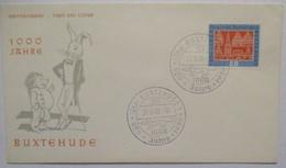 1000 Jahre Buxtehude, Hase Igel, Stempel Mit Dackel 1959 (2629) - Briefmarken