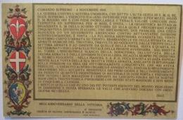 Italien, Patriotik Comando Supremo 4. Novembre 1918 (13181) - Weltkrieg 1914-18