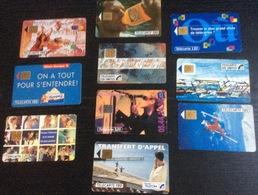 Lot De 10 TELECARTES 120 Unités - Télécartes