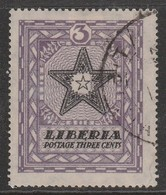 Liberia 1923 Local Motifs 3 Cviolet/bluish Black SW 294 O Used - Liberia