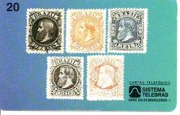 Télécarte Brésil Timbre Stamp   Phonecard  (G08) - Timbres & Monnaies