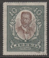 Liberia 1923 Local Motifs 10 C Greenish Grey/dark Brown SW 296 O Used - Liberia