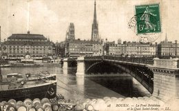 ROUEN LE PONT BOIELDIEU ET LE QUAI SAINT SEVER - Rouen