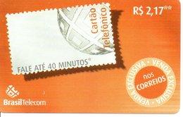 Télécarte Brésil Timbre Stamp   Phonecard  (G10) - Timbres & Monnaies