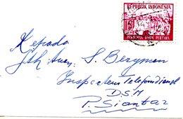 INDONESIE. N°105 De 1955 Sur Enveloppe Ayant Circulé. Premières élections Générales. - Indonesia