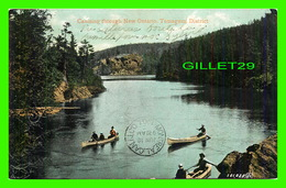TEMAGAMI, ONTARIO - CANOEING THROUGH NEW ONTARIO - ANIMATED - TRAVEL IN 1907 -  THE VALENTINE & SONS - - Ontario