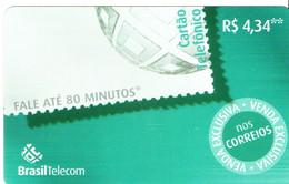 Télécarte Brésil Timbre Stamp   Phonecard  (G11) - Timbres & Monnaies