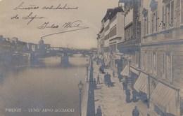 FIRENZE-LUNNG'ARNO ACCIAIOLI-CARTOLINA VERA FOTOGRAFIA VIAGGIATA IL 1-3-1905 - Firenze