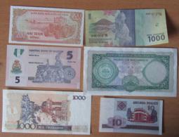 Petite Collection De Billets De Banque Du Monde Proche Neuf, Neufs / UNC, Dont Indonésie, Cambodge, Etc... - Bankbiljetten