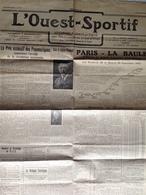 L'Ouest-Sportif - Sept 1925 - Course Automobile Club - Epreuve Pour Dames - La Baule/ Paris - Autres