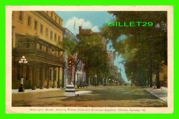 OTTAWA, ONTARIO - WELLINGTON STREET, SHOWING RIDEAU CLUB & AMERICAN LEGATION - ANIMÉE - PECO - - Ottawa