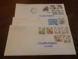 LOTTO 3 LETTERE APERTE CON FRANCOBOLLI ANNULLATI CON PERFING CREDITO ITALIANO-1995 IN CORSO PARTICOLARE - 6. 1946-.. Repubblica