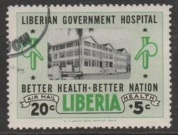 Liberia 1954 Government Hospital 20+5 C Green/black SW 522 O Used - Liberia