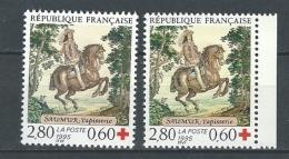 "FR YT 2946 & 2946a "" Croix-Rouge "" 1995 Neuf** - France"