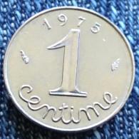 1 C 1975 épi Rare - A. 1 Centime