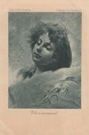 Carte Postale Ancienne Illustrée - Pologne - Portrait De Femme - Etonnement - Vers 1900 - Illustrateurs & Photographes