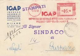 Milano. 1952. Annullo Meccanico, Su Stampati. IGAP Impresa Generale Affisioni Pubblicità. - Affrancature Meccaniche Rosse (EMA)