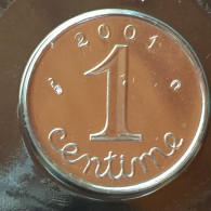 1 C 2001    Rare - A. 1 Centime