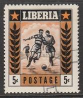 Liberia 1955 Sports 5 C Yellowish Brown/black SW 536 O Used - Liberia