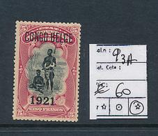 BELGIAN CONGO 1921 ISSUE COB 93A LH - 1894-1923 Mols: Nuovi