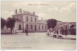 AVENAY --Place  De  La Gare - Autres Communes