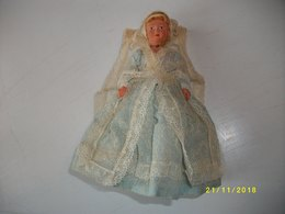 Poupée De Collection Ancienne :la Mariée Hauteur 18cms TBE - Autres