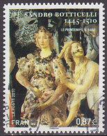 Timbre AA Oblitéré N° 492(Yvert) France 2010 - Tableau De Sandro Botticelli - KlebeBriefmarken