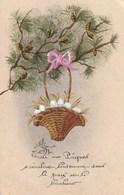 Carte Postale Ancienne Fantaisie - Peinte à La Main - Pâques - Pascua