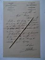 Oude Brief  AMBACHTSCHOOL Voor JONGELINGEN    STAD  GENT 1903 - Announcements